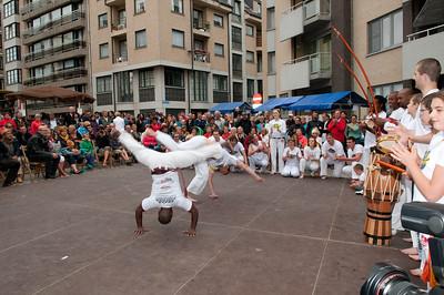 Pauluspleintje: demonstratie capoeira