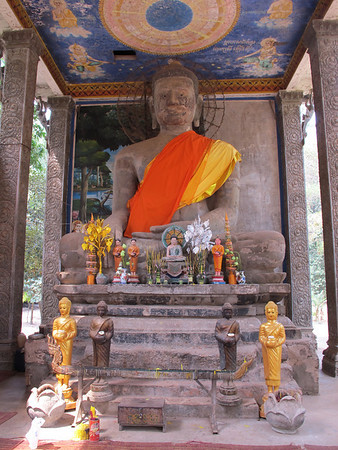 Buddha at shrine to the south of Bayon.