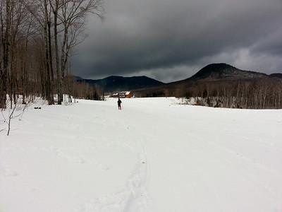 Skiing at Jay Peak nordic center