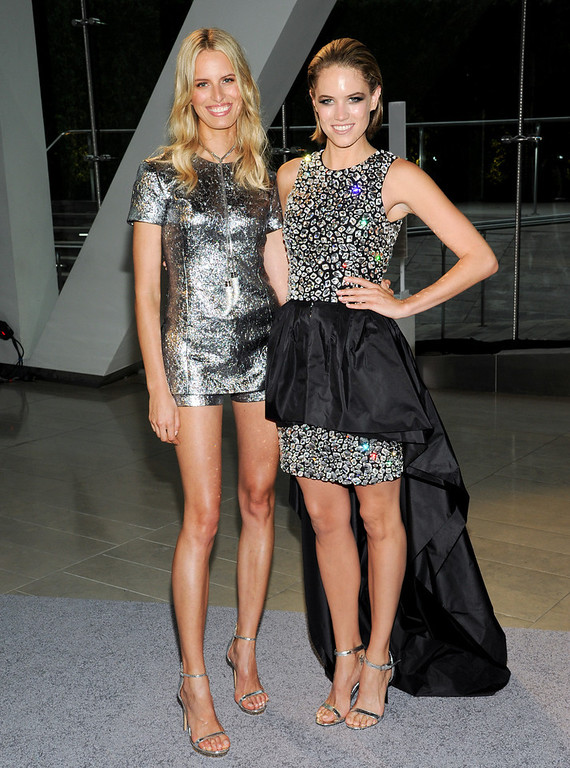 . Model Karolina Kurkova and actress Cody Horn attend the 2013 CFDA Fashion Awards at Alice Tully Hall on Monday, June 3, 2013 in New York. (Photo by Evan Agostini/Invision/AP)