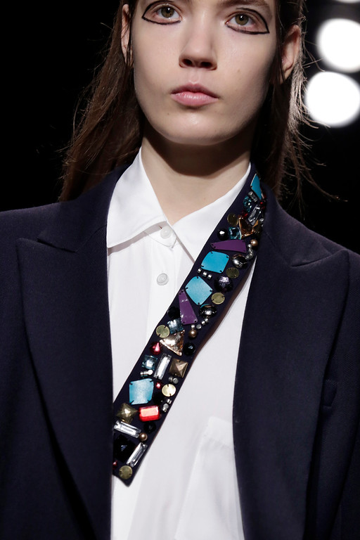 . The DKNY Fall 2015 collection is modeled during Fashion Week, in New York, Sunday, Feb. 15, 2015. (AP Photo/Richard Drew)