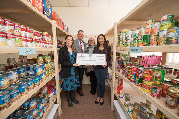 Common Grounds Food Pantry Donation, December 2016