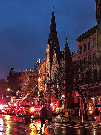 FDNY 3rd alarm 2nd Ave and East 7th St. fire in an OMD