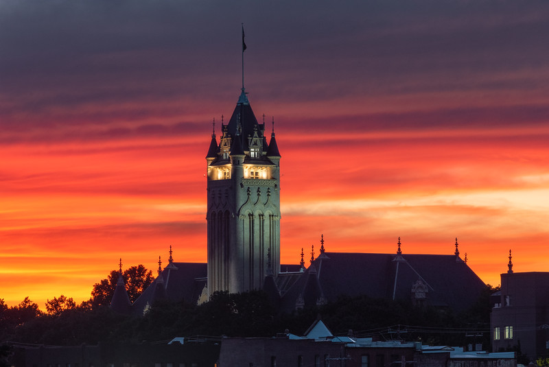 Spokane County Courthouse at Sunset