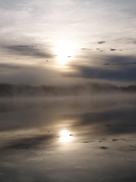 Sun reflection on Swan Lake