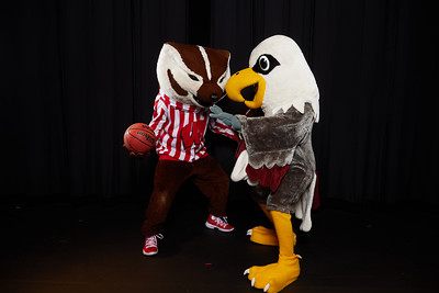 2019 UWL Bucky Badger and Stryker Eagle