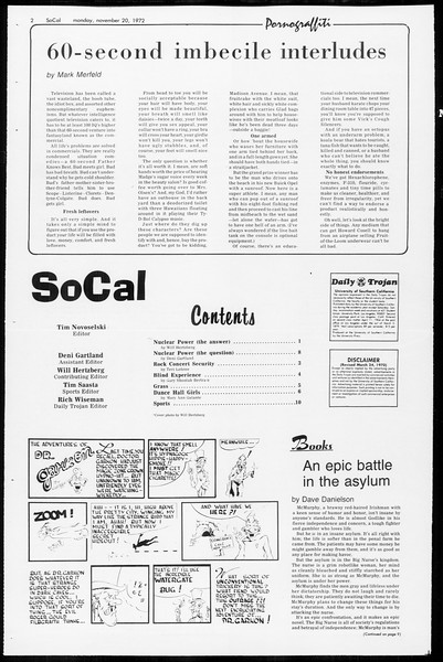 SoCal, Vol. 65, No. 43, November 20, 1972