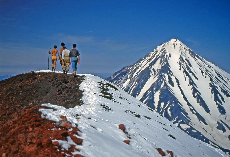 Hiking on the Avachinsky Volcano - Kamchatka, Russian Federation - Summer 1993