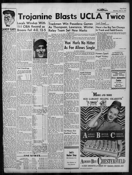 Daily Trojan, Vol. 37, No. 140, June 03, 1946