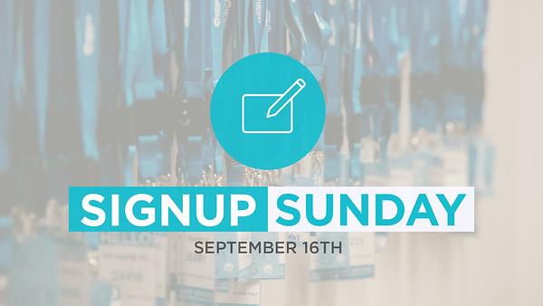Sign-Up Sunday