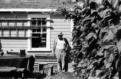 Joe Scoglio in his garden
