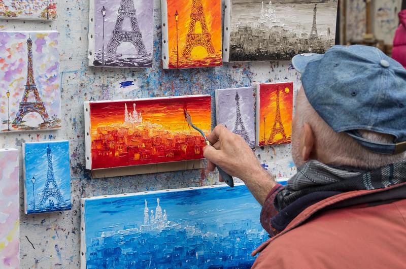 Artists at Sacre Coeur