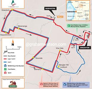 Tour Down Under Stage 1: Nurioopta > Angaston, 135kms