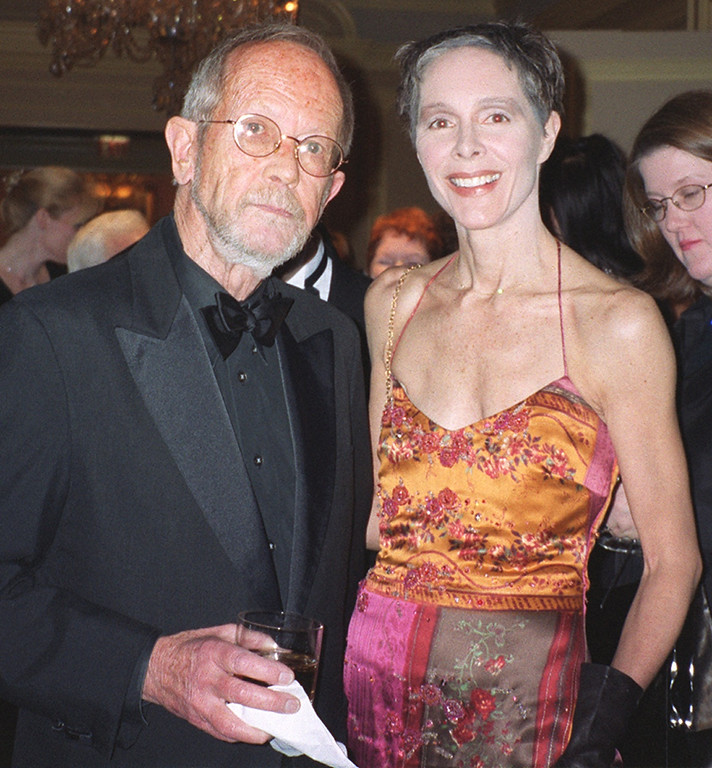 . Author Elmore Leonard and wife Christine at the Michigan International Wine Auction � A Night for Sight at the Ritz-Carlton in Dearborn on Saturday, April 6, 2002.