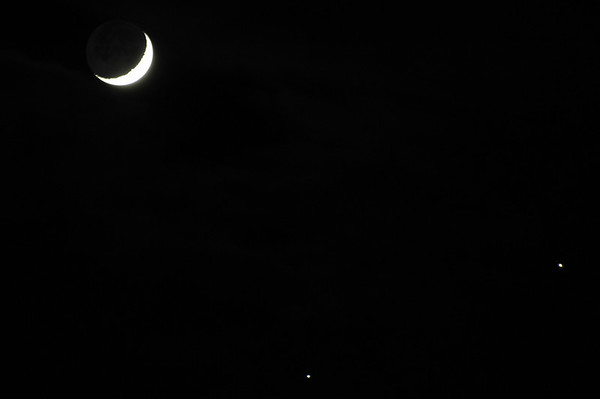 Moon, Jupiter, Venus