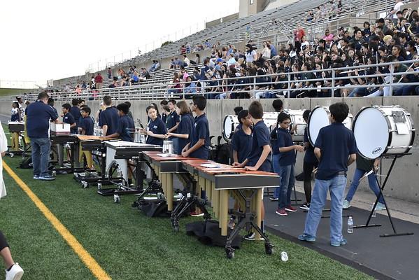 2018.09.18 - Rice Band at 8th Grade Game (Jasper Helping)