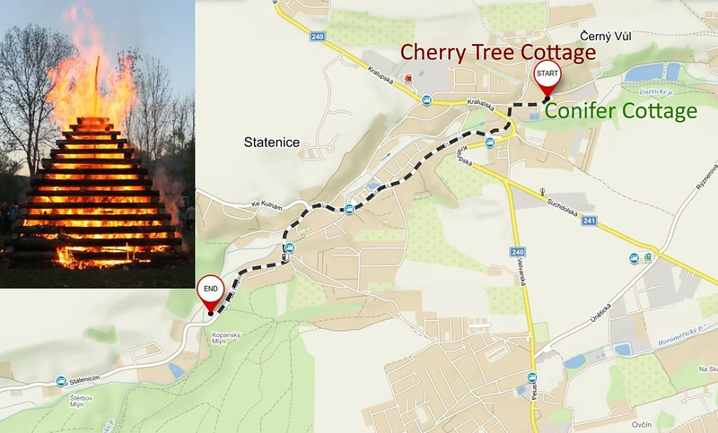 Directions to Statenice Witch Burning
