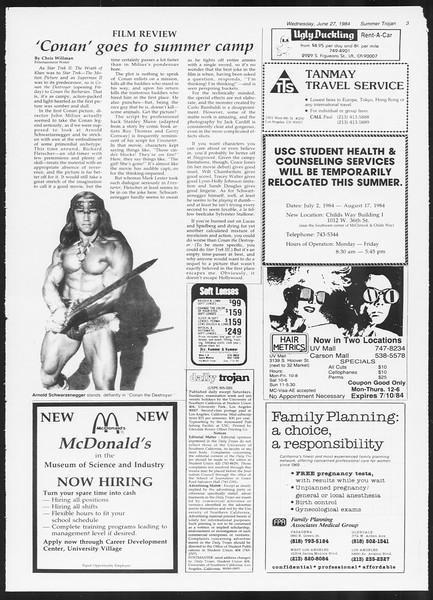 Summer Trojan, Vol. 96, No. 6, June 27, 1984