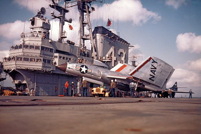 US Navy Vought F7U Cutlass Airplane Aircraft Carrier Pictures