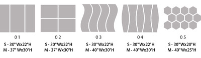 Split Metal Print Designs