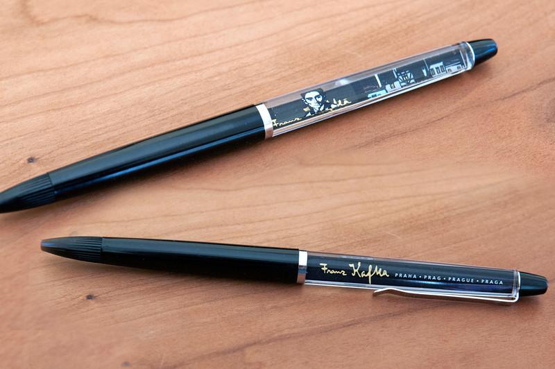A Franz Kafka float pen from Prague.