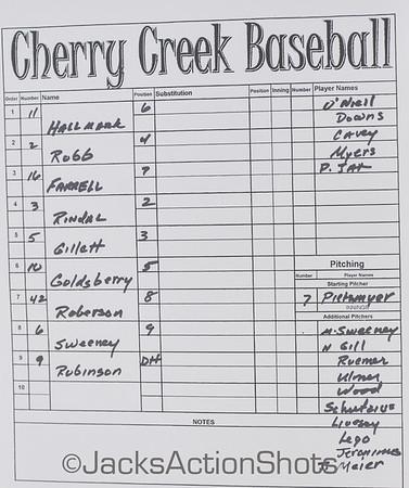 Cherry Creek vs Mountain Vista - MV home team - March 13th 2014