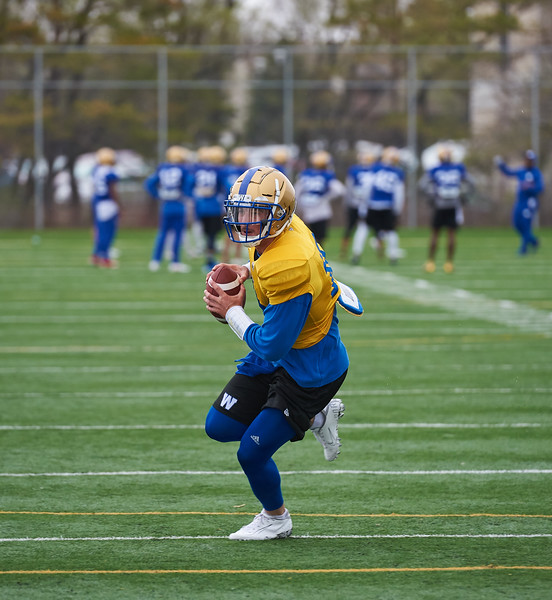 #18 Bryan Bennett during Winnipeg Blue Bombers rookie camp Wednesday May 15, 2019.