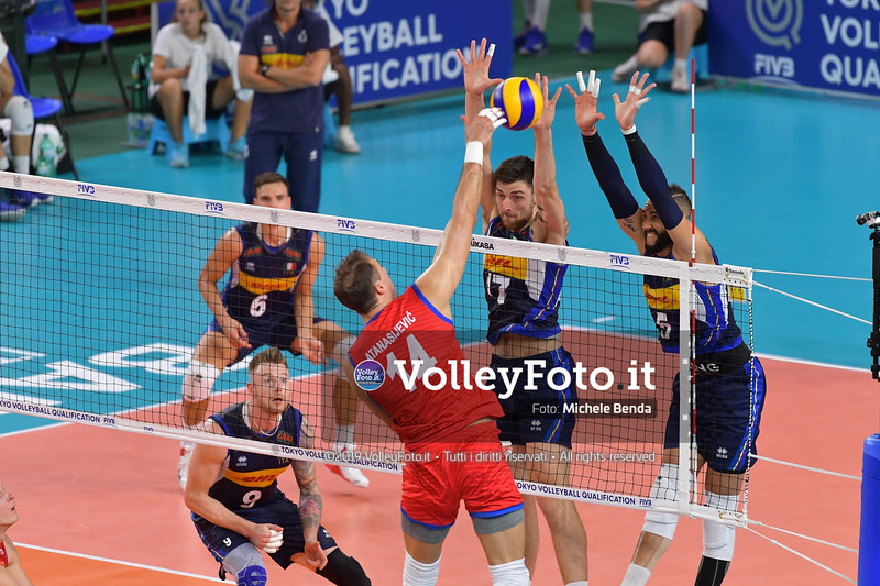 ITALIA vs SERBIA, 2019 FIVB Intercontinental Olympic Qualification Tournament - Men's Pool C IT, 11 agosto 2019. Foto: Michele Benda per VolleyFoto.it [riferimento file: 2019-08-11/ND5_7051]