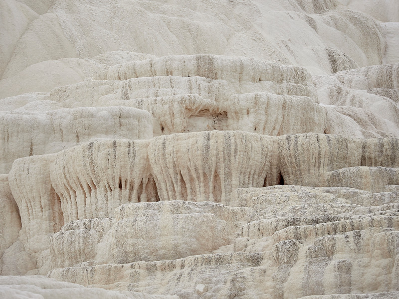 Amazing mineral deposits at hot springs