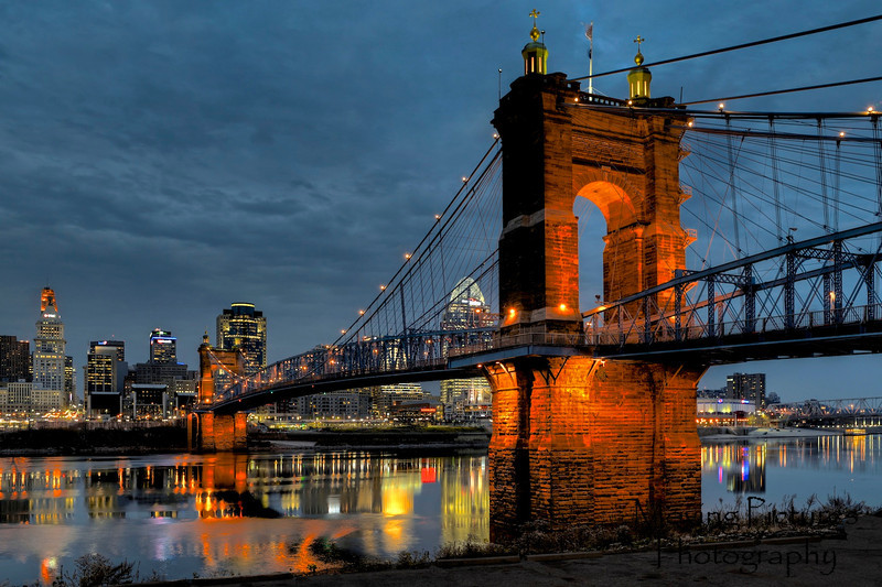 Roebling Suspension Bridge - reflections