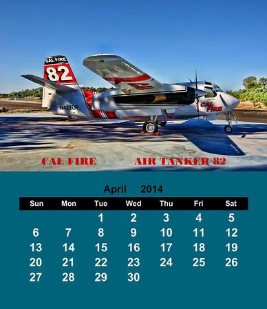 2014 CAL FIRE FIREFIGHTING AIRCRAFT CD CASE CALENDAR