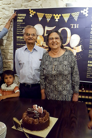 Anirrudh Uncle and Dhruti's Aunty's 50 year marriage anniversary