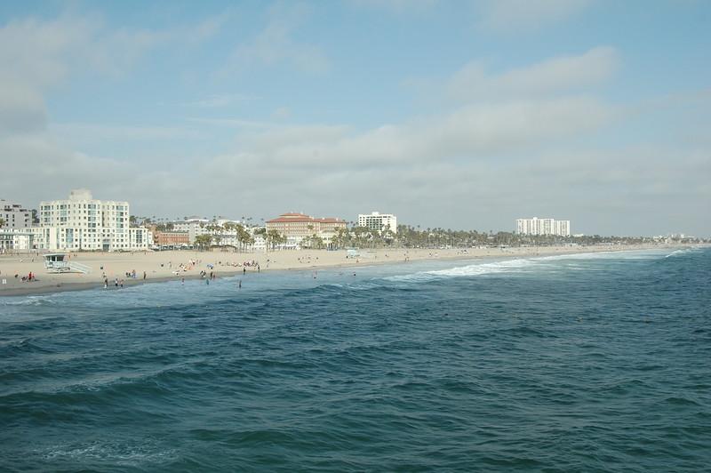 Ocean near Santa Monica pier