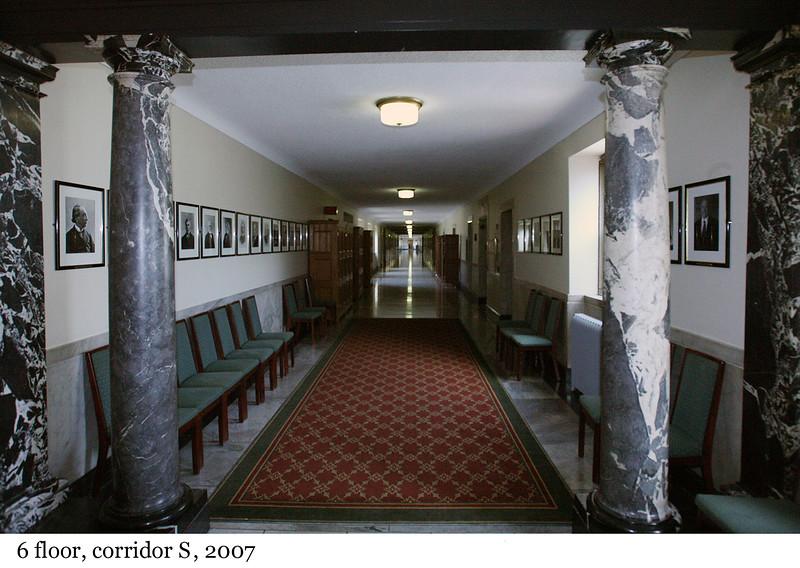 6 floor, corridor S - Etage 6, couloir S, 2007