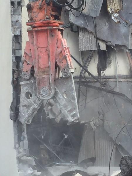NPK M38G Material Processor rental on Deere excavator - commercial demolition Atlanta, GA (2).JPG