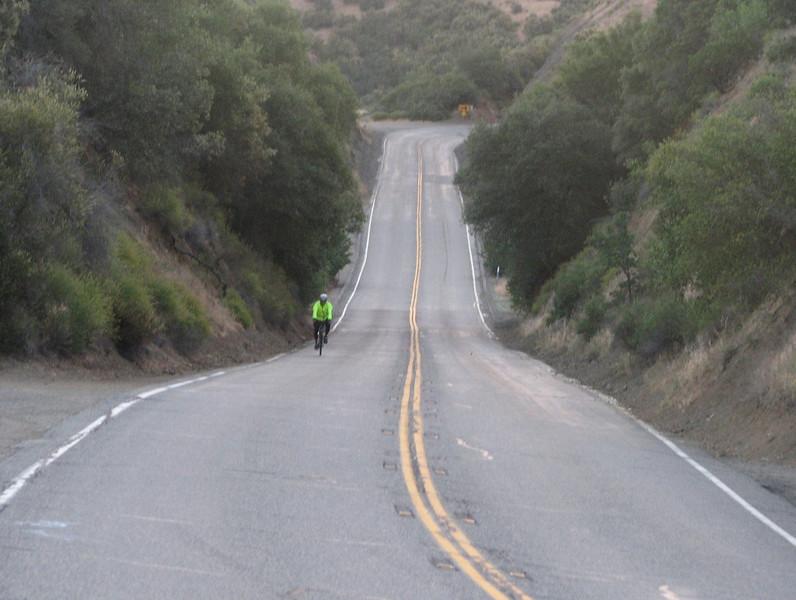 Early bird DC rider heading for Cardiac.