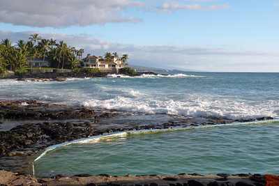 Part of a Man-Made Public Saltwater Pool off Alii Drive, Kailua-Kona January 2013, Cynthia Meyer, Hawaii
