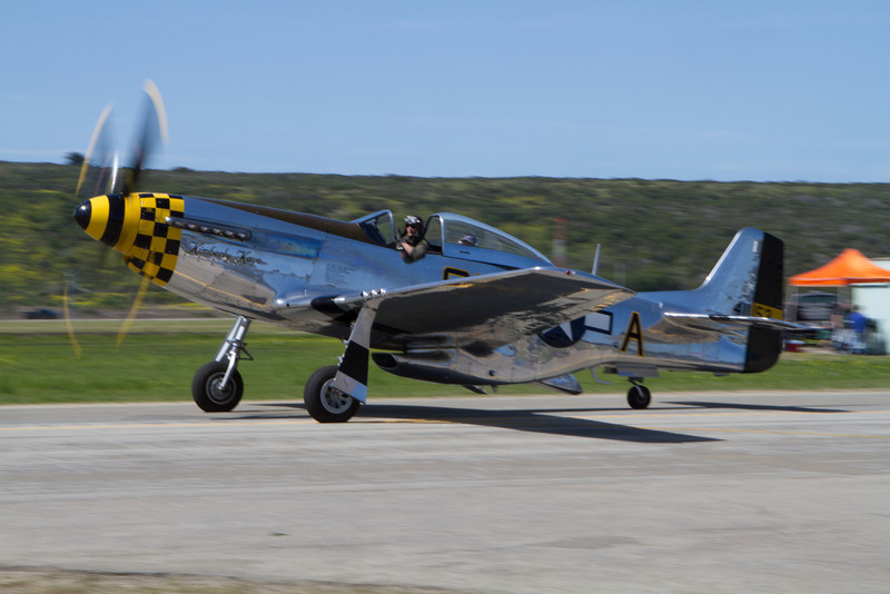 This P-51 accompanied the P-40.
