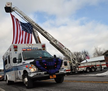Funeral for Livonia, NY EMS Director of Operations Ed Sparks Jr. - 12/7/19