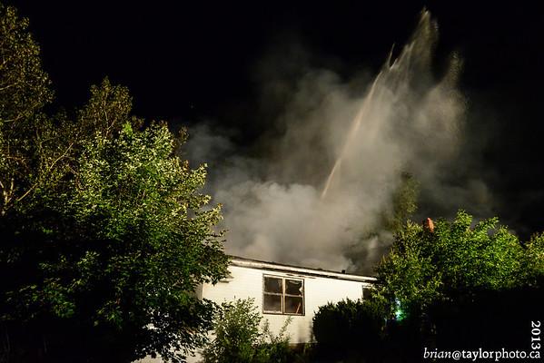 Abandoned House Fire, Kingston, June 21, 2013