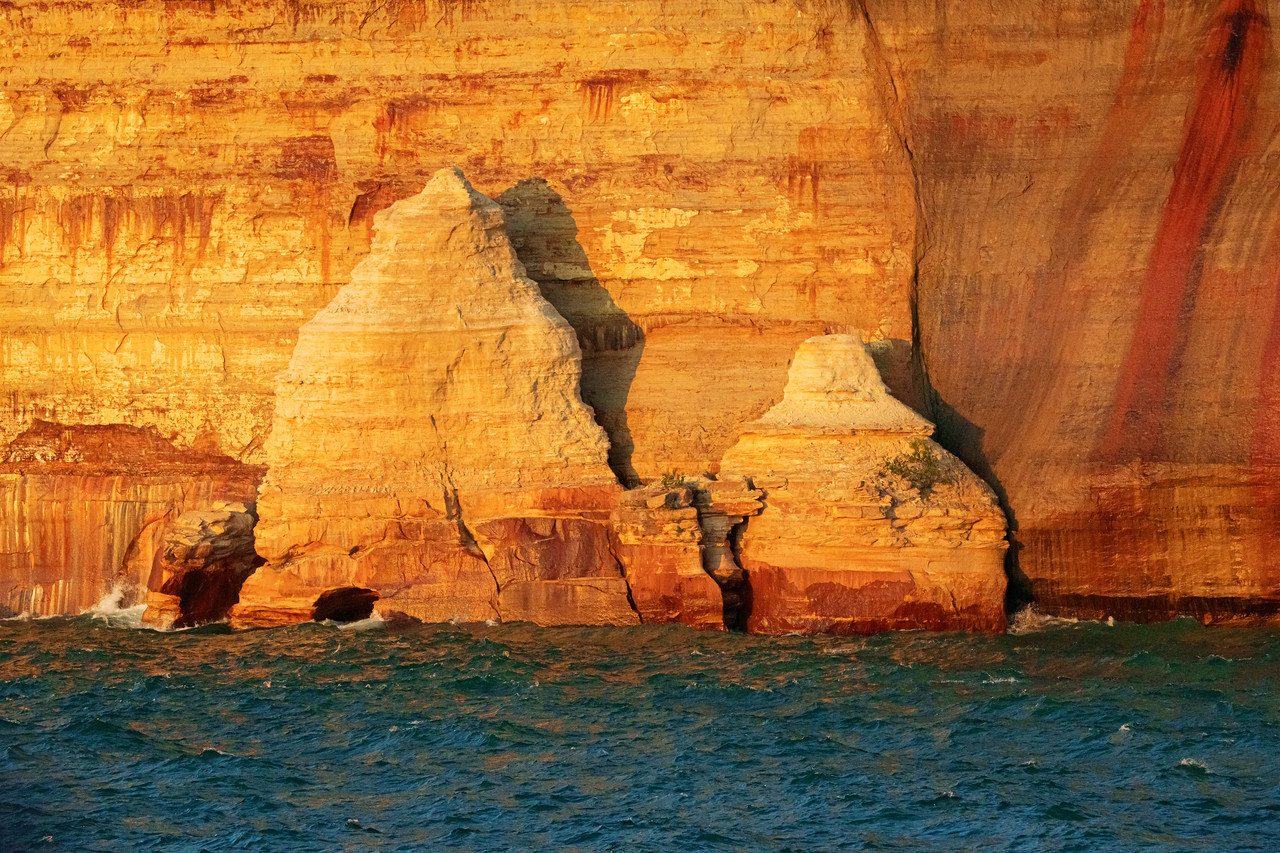 Pictured Rocks at Sunset