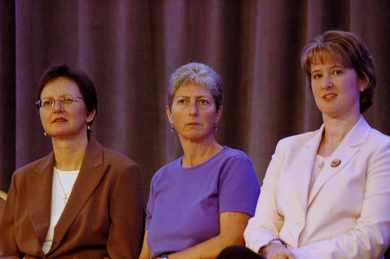 Nancy Arnison (Director, World Hunger program), Kathryn Wolford (President, Lutheran World Relief), and Kathryn Sime (Director, ELCA World Hunger Appeal)