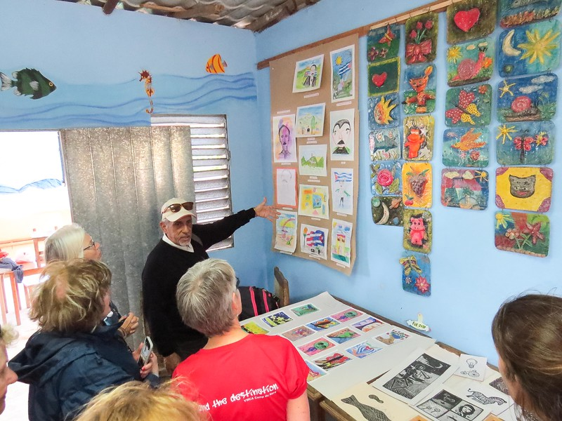 Victor showcases work of resident artists and children of the community.