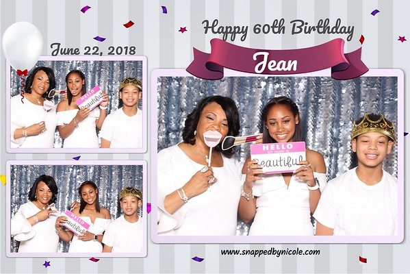 Happy 60th Birthday Jean! 6.22.18