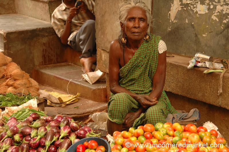 Madurai, India: Woman and Veg II
