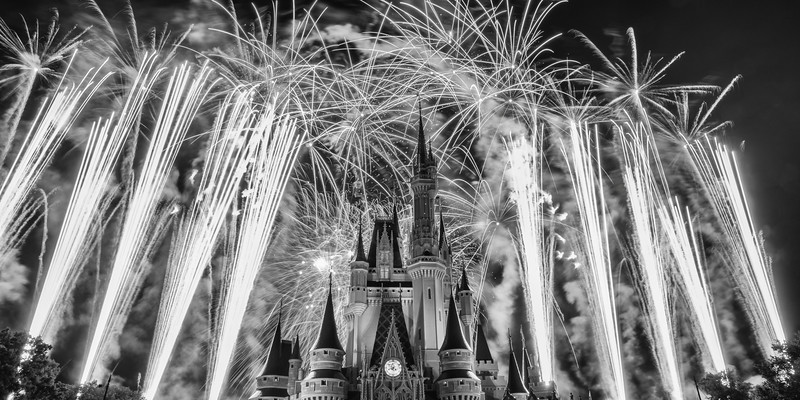 Wishes BW Magic Kingdom Disney World Fireworks.jpg