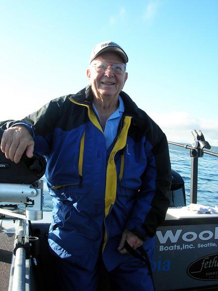 Fishing: Dad's 86th birthday