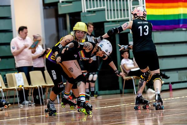 KFI 6 - Kallio Rolling Rainbow vs. Crime City Rollergirls