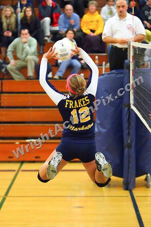 2011 11 10 Clarkston Varsity Volleyball vs Midland Chemics Regional Championship - Go Wolves!!!