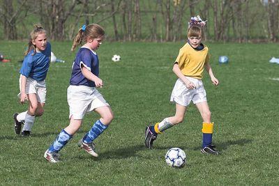 Second Grade Soccer, April 9 2005